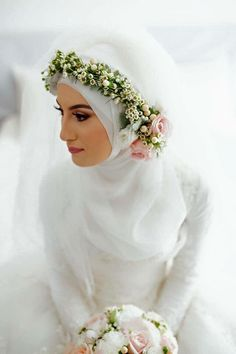 Muslim Wedding Dresses with Photos & Videos - 2017 Collection Hijabi Wedding, Muslimah Wedding Dress, Muslim Wedding Dresses, Muslim Brides, Muslim Dress, Wedding Bride, Bridal Dresses, Wedding Gowns, Muslim Couples