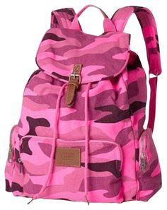 The PINK Victoria's Secret Camo Print School Beach Bookbag Multicolor/Pink Cotton Canvas Backpack is a top 10 member favorite on Tradesy. Pink Camo Backpack, Camo Bag, Camouflage Backpack, Women's Camo, Mochila Victoria Secret, Pink Camouflage, Canvas Backpack, Backpack Bags, Yin Yoga