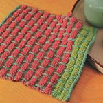 Knit a ballband dishcloth.  These dishcloths are SO much fun to knit; simple & fast, & fun to play with all the colors.