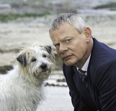 """Doc and Buddy are ready for their season 7 closeup! See more of this """"odd couple"""" when Doc Martin returns to public television this winter."""