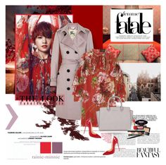 """Femme Fatale"" by rainie-minnie ❤ liked on Polyvore featuring F, Burberry, Gucci, MICHAEL Michael Kors, Christian Louboutin, Estée Lauder, Bobbi Brown Cosmetics and Mary Kay"