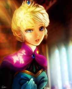 This is a really good anime Elsa drawing