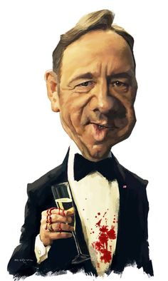 """Kevin Spacey from """"House of Cards"""", illustration for Weekly Sieci. Thanks Michal Korsun it was fun to work together"""