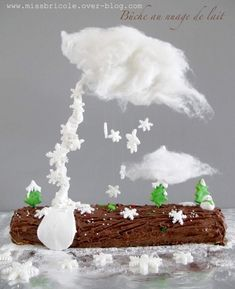 DIY Gravity cake bûche Noël - Le Meilleur du DIY
