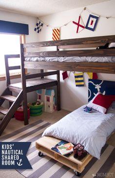 Nautical Themed Shared Kids' Room