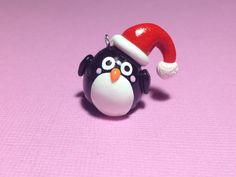 Kawaii Penguin Polymer Clay Christmas Ornament by PixieAddictions, $4.00