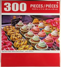 Puzzlebug 300 pc Puzzle Brand New /& Sealed Sweet Pink Dessert Table
