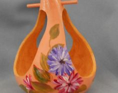 Floral Burst Hand Painted Bird House Gourd by HouseOfGourds