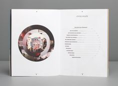 Different idea for a table of contents layout / circle / book / magazine / design