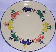 Working Elephants Giant Saucer 1991 (Discontinued)