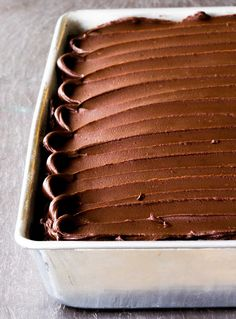 Chocolate Sour Cream Cake with Chocolate Frosting Recipe | SimplyRecipes.com