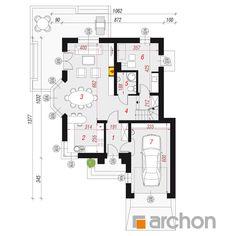 Projekt domu Dom w rukoli (N) - ARCHON+ Modern Architecture House, House Plans, Floor Plans, How To Plan, Cool Houses, Sketch Design, House Floor Plans, Floor Plan Drawing, Home Plans