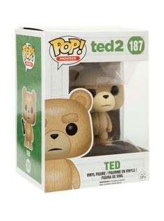 Ted is given a fun, and funky, stylized look as an adorable collectible vinyl figure!