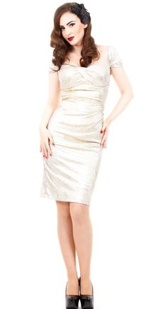 Stop Staring! Fortune Dress in Gold | Blame Betty Love this dress, wish I were going to a fancy party.