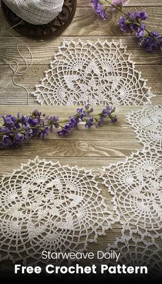 Starweave Doily Free Crochet Pattern #crochet #crafts #yarn #homedecor #style #inspiration