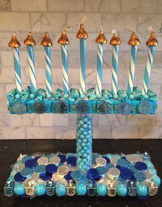 candy menorah hanukkah craft more - Hanukkah Decorations