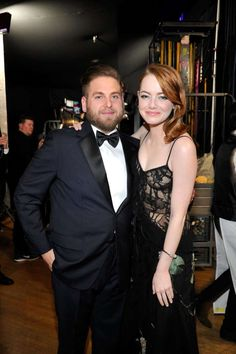 Pictured: Jonah Hill and Emma Stone - Getty