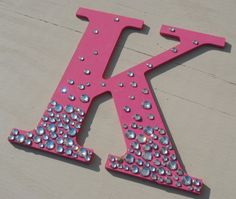 9 Hot Pink Bling Sparkle Wall Letters