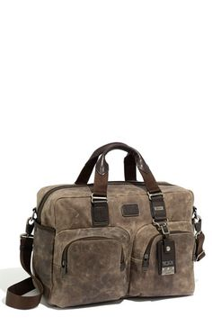 "Tumi ""McGuire"" Crushed Leather Laptop Bag"