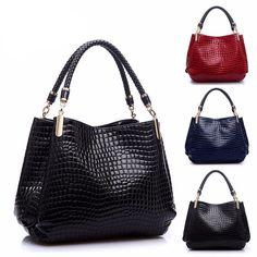 ce6675446 2016 designer Brand Leather bolsas femininas Women bag ladies Pattern  Handbag Shoulder Bag Female Tote Sac Crocodile Bag