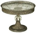 SHABBY VINTAGE CHIC FILIGREE CAKE STAND WITH CUT GLASS PLATE, METAL AND GLASS http://stores.ebay.co.uk/Dolly-Daydream-Boutique