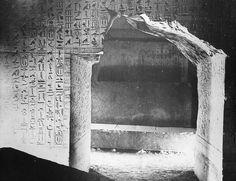 Egypt. Sakkara. Burial Chamber. Pyramid of Unas. 5th Dyn. Sakkara.  Circa 1900.