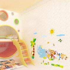 Children Kids Removable Forest Animals Wall Sticker Art Vinyl Decal Nursery Baby Room DIY Decoration