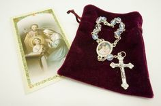 2 Holy Family Rosary car rear view mirror.2 Rosarios Carro de la Familia Santa