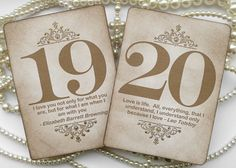 Gold Wedding Table Numbers Vintage QUOTES Table by amaretto