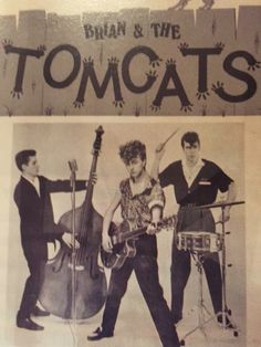 First ever photo of the Stray Cats as Brian and the Tomcats (1979)