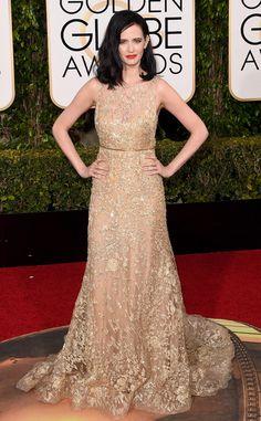 2016 Golden Globes Red Carpet Arrivals Eva Green, Golden Globe Awards