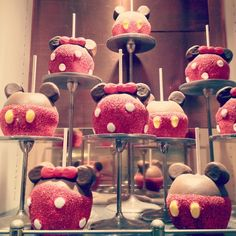 Mickey and Minnie apples! So cute!!