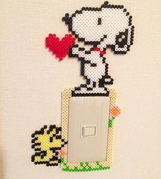 Snoopy perler beads light switch