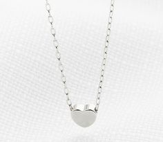 Silver Necklace - Tiny Heart Necklace
