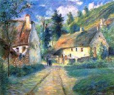 Camille Pissarro - Bauernhäuser in Auvers                                                                                                                                                                                 More