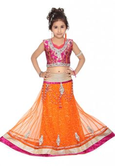 Beautiful & Fancy Lehenga Choli and Sharar Designs Collection For Kids (8)