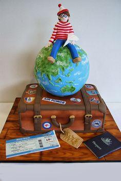 Where's Wally Cake. Luggage Cake. Travel Cake.