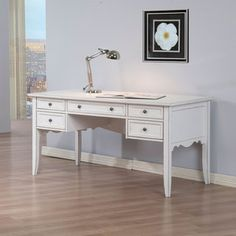 White Classics Writing Desk | Overstock.com Shopping - The Best Deals on Desks ...need this for my new office! :)