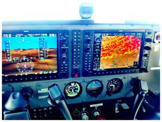 The G1000 in a cessna 172RG. Pretty neat avionics... different from what I trained on that's for sure!