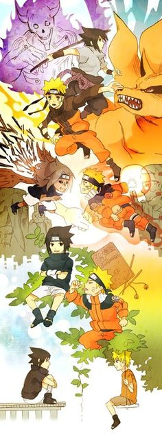 Naruto & Sasuke....beautiful art! ^.^