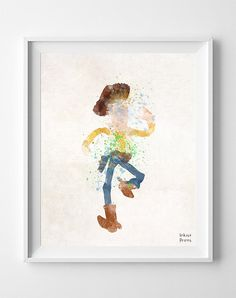 Toy Story, Print, Woody, Art, Illustration, Watercolor, Gift, Painting, Poster, Watercolour, Wall, Nursery Room, Baby, Home Decor [NO 409]