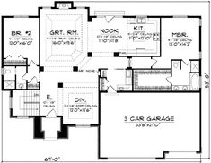 Floor Plans Aflfpw01559 1 Story Ranch Home With 3