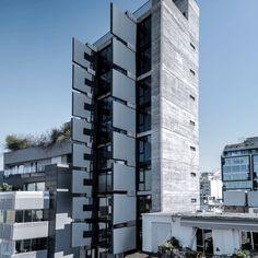 Sliding walls animate the facade of Fouad Samara Architects' Modulofts apartments