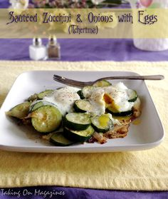 Zucchini and Eggs (Tchertma) | Taking On Magazines | www.takingonmagazines.com | Zucchini and Eggs (Tchertma) is a popular Armenian dish, equally as good for dinner as for lunch. It's easy to throw together and delicious to boot.