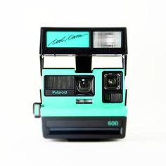 Pop Art Photo, Dorm Art, Neon Turquoise Polaroid Love, 600 Cool Cam, Lomography Photography, Rainbow Camera, Square Photo, Fine Photography