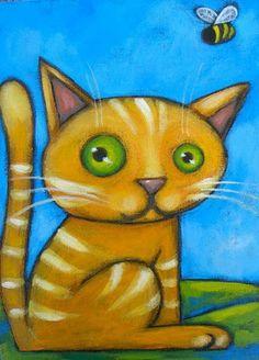 Cat illustrations ~*~ Adrienne Trafford                                                                                                                                                      More