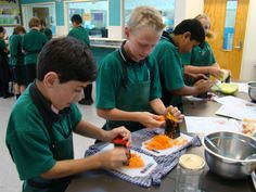 Preparing the vegetables