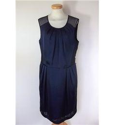 Jasper Conran Size 14 Dark Blue and Black Sleeveless Dress Jasper Conran, Size 14, Dark Blue, Dresses For Work, Shopping, Black, Tops, Women, Fashion