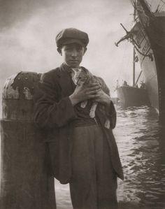 The Ship's Cat, Sydney, circa By Harold Cazneaux Victorian Photos, Antique Photos, Vintage Pictures, Vintage Photographs, Old Pictures, Vintage Images, Old Photos, Cat People, Vintage Cat