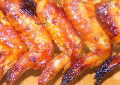 BBQ mártásban pácolt sült csirkeszárny